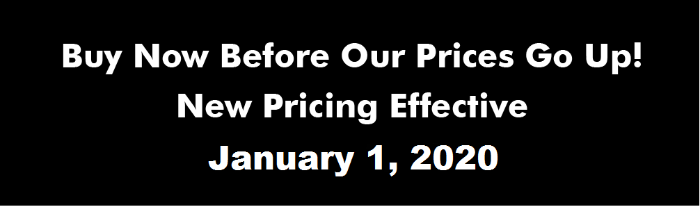 Pricing Increase Announcement Effective January 1, 2020
